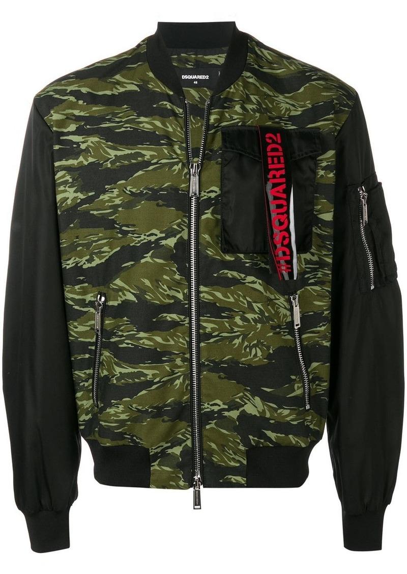 Dsquared2 camouflage bomber jacket