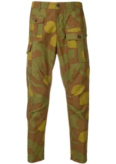 Dsquared2 camouflage print cargo trousers