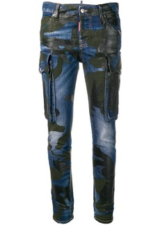 Dsquared2 camouflage print jeans