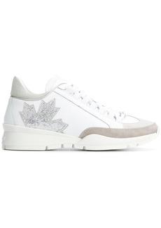 Dsquared2 Canada glitter leaf sneakers