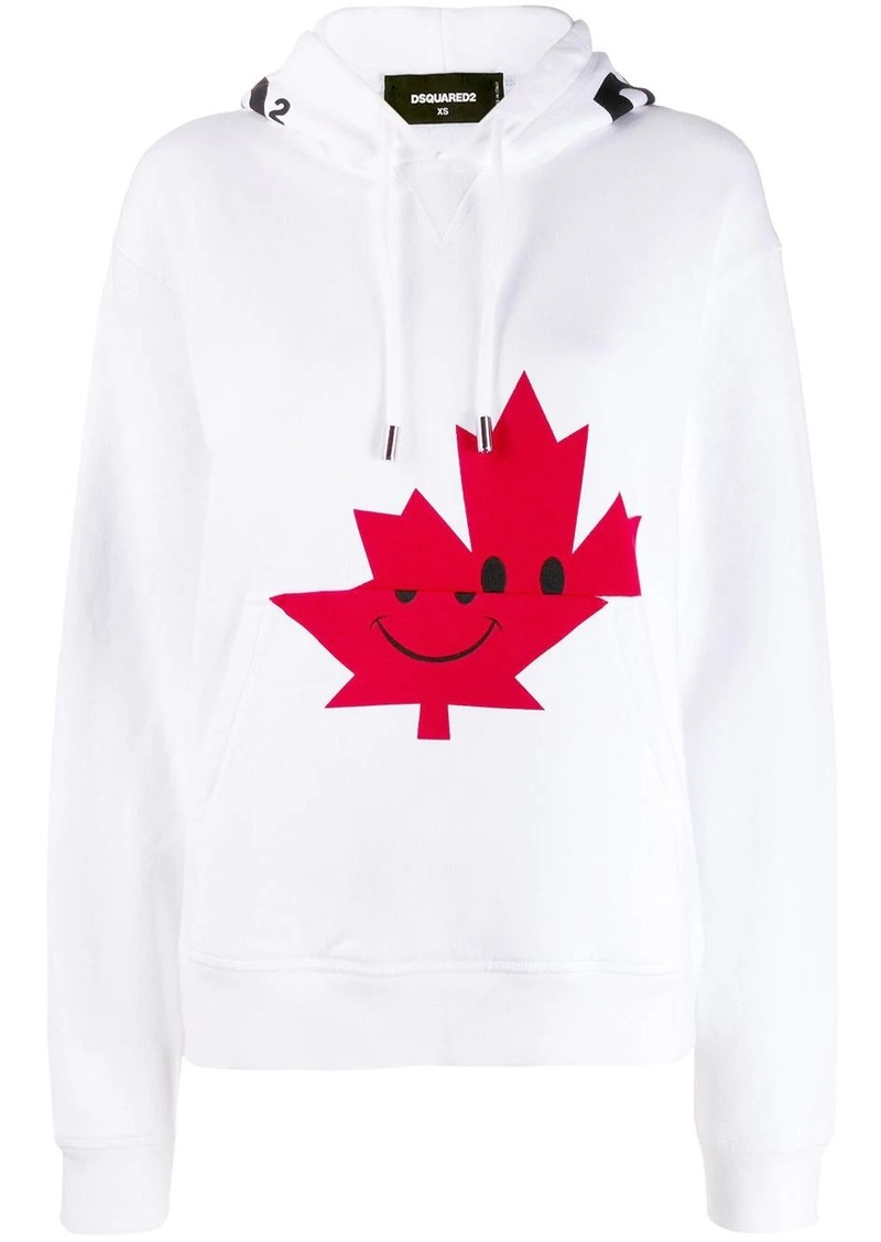Dsquared2 Canadian leaf print hoodie