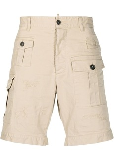 Dsquared2 mid-rise cotton cargo shorts