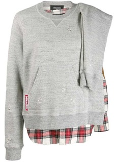 Dsquared2 check detail sweatshirt