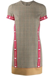 Dsquared2 check patterned sports T-shirt dress