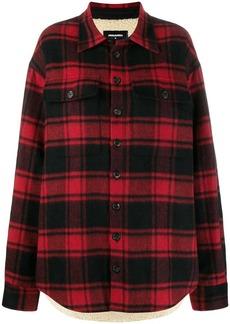 Dsquared2 check print shirt jacket