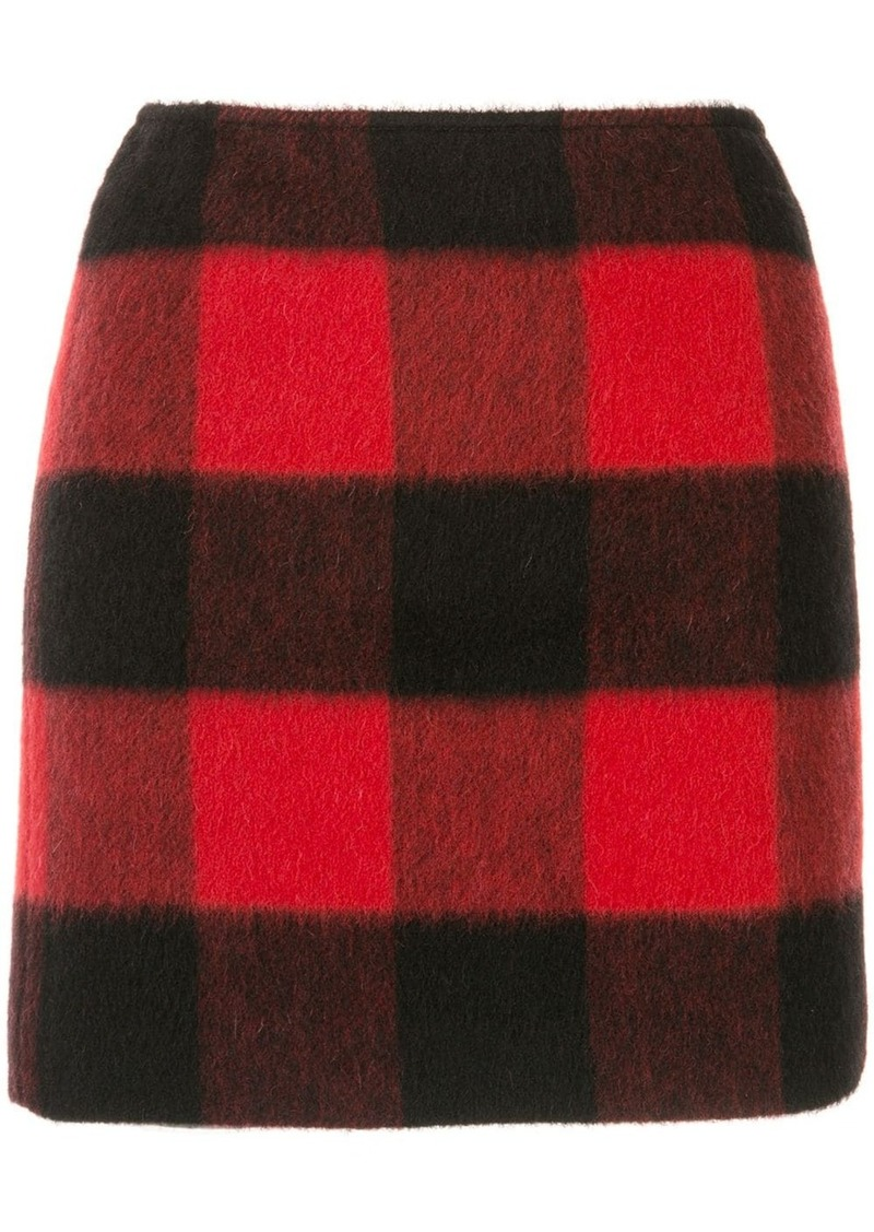 Dsquared2 checked fitted skirt