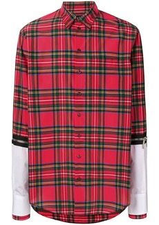 Dsquared2 checked layered shirt