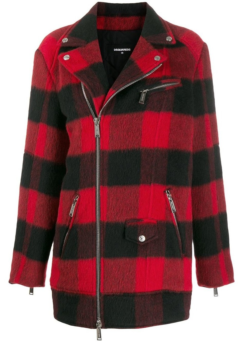 Dsquared2 checkered coat