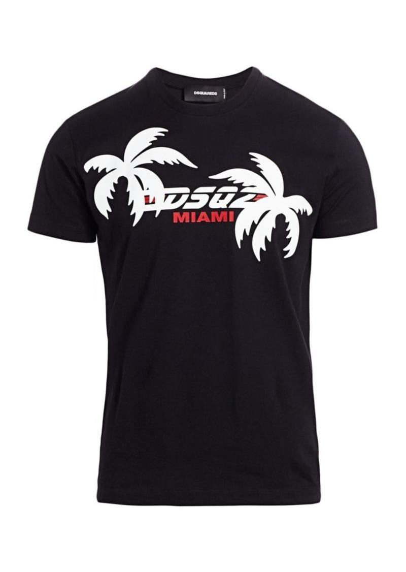Dsquared2 Chic Dan Fit Miami Graphic Logo T-Shirt