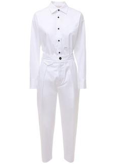 Dsquared2 Chinched Stretch Cotton Denim Jumpsuit