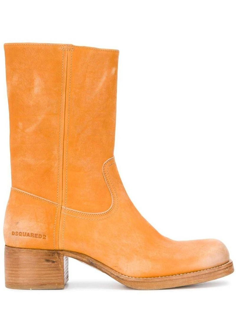 Dsquared2 chunky heel ankle boots