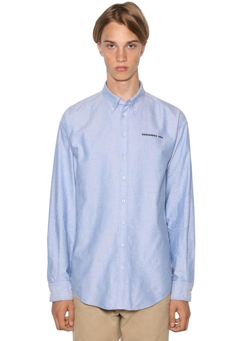 Dsquared2 Classic Button Down Cotton Oxford Shirt