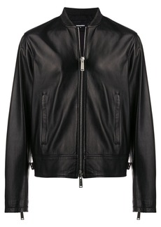 Dsquared2 classic leather jacket