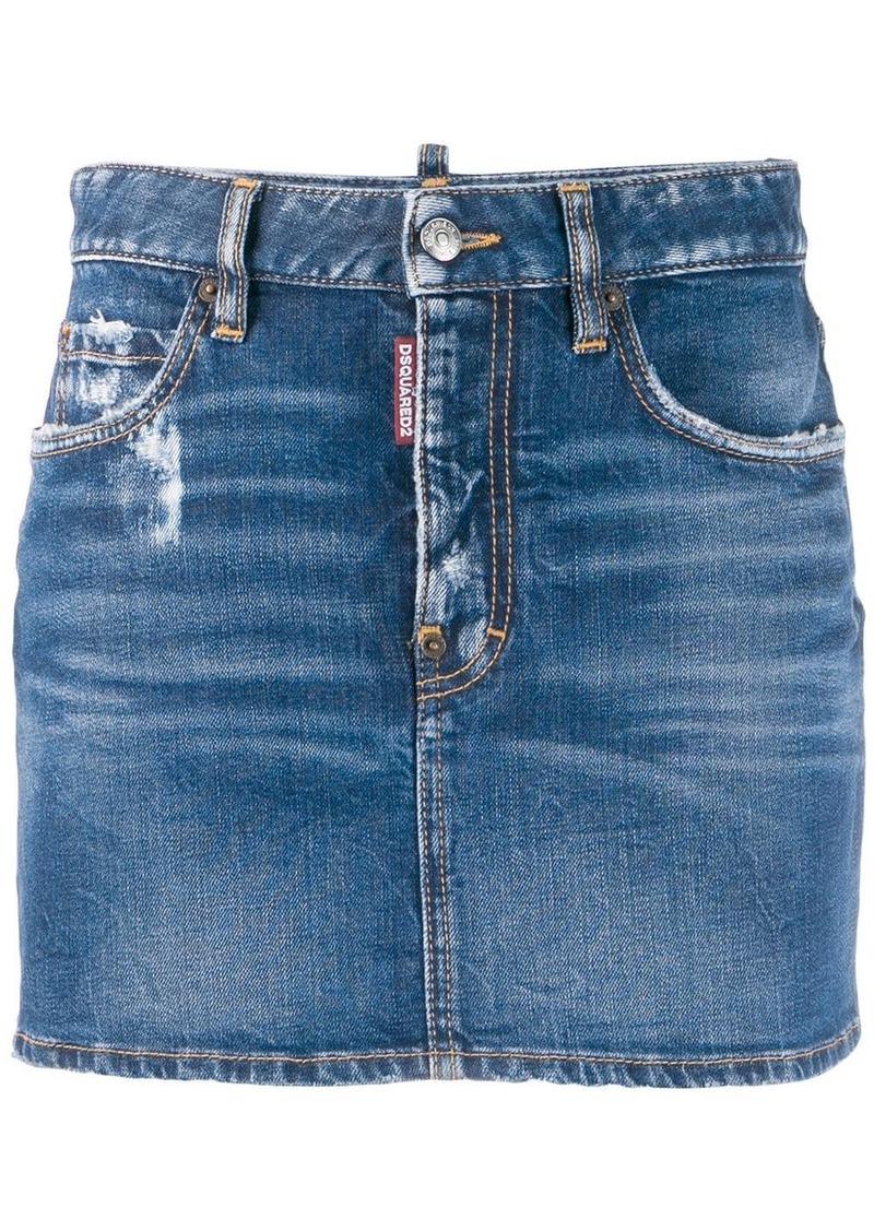 Dsquared2 classic mini denim skirt