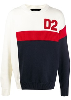 Dsquared2 colour-block crew neck sweater