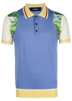 Dsquared2 colourblock printed polo shirt