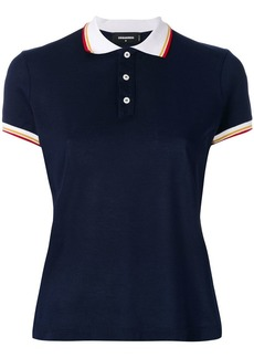 Dsquared2 contrast collar polo top