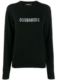 Dsquared2 contrast logo sweater