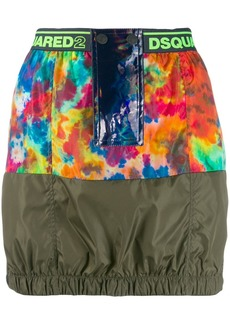 Dsquared2 contrast mini skirt