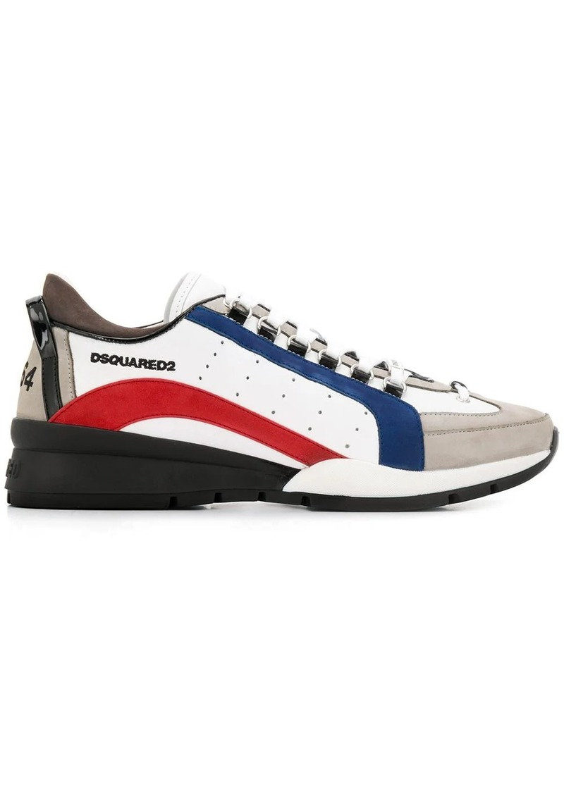 Dsquared2 contrast panel logo sneakers