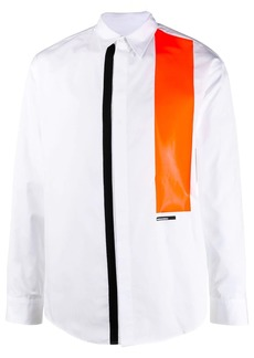 Dsquared2 contrast-panel long-sleeve shirt