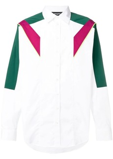 Dsquared2 contrast panels shirt