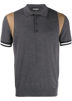 Dsquared2 contrast shoulder polo shirt