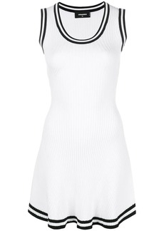 Dsquared2 contrast-trim flared dress