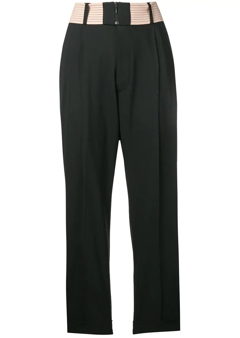 Dsquared2 contrast waist pleated trousers