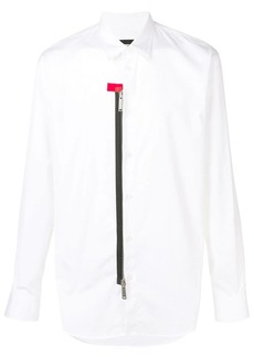 Dsquared2 contrast zip shirt