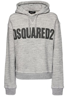 Dsquared2 Cool Fit Logo Cotton Jersey Hoodie