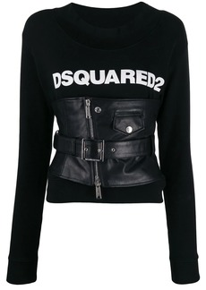 Dsquared2 corseted logo sweatshirt