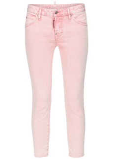 Dsquared2 Cool Girl Cotton Denim Crop Skinny Jeans