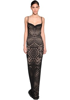 Dsquared2 Cotton Macramé Knit Dress