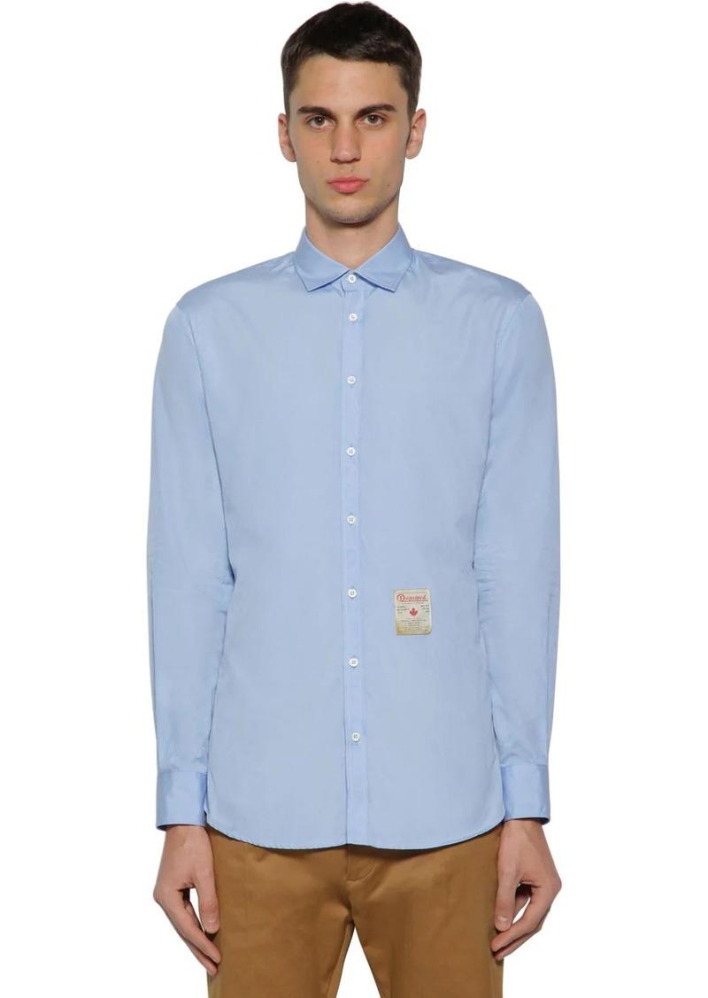 Dsquared2 Cotton Poplin Shirt W/ Patch
