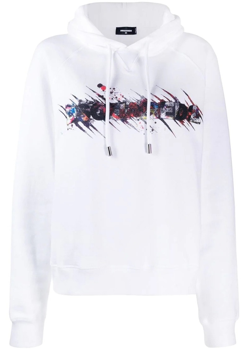 Dsquared2 covered logo hoodie