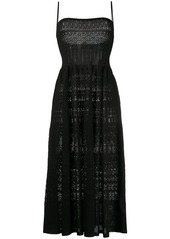 Dsquared2 crochet flared midi dress