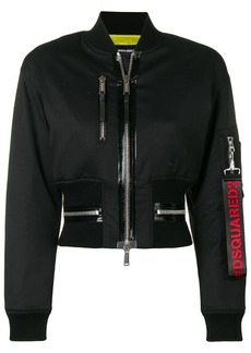 Dsquared2 cropped bomber jacket