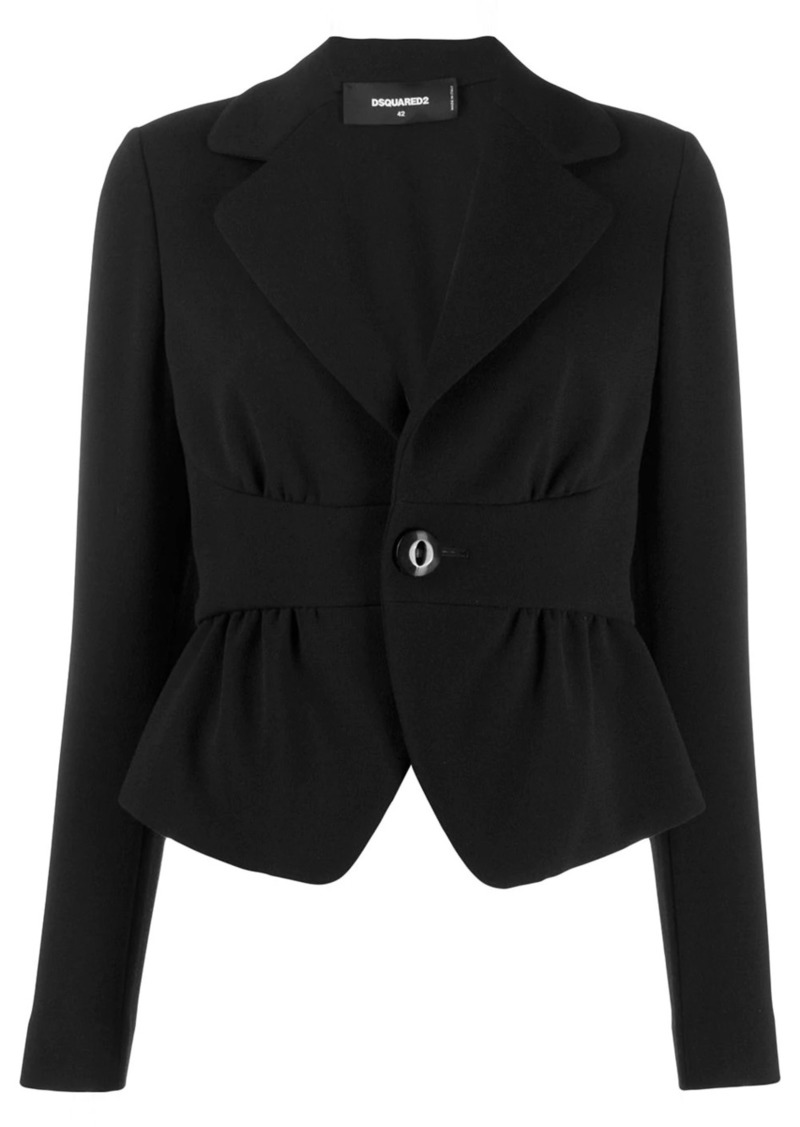 Dsquared2 cropped cinched waist blazer