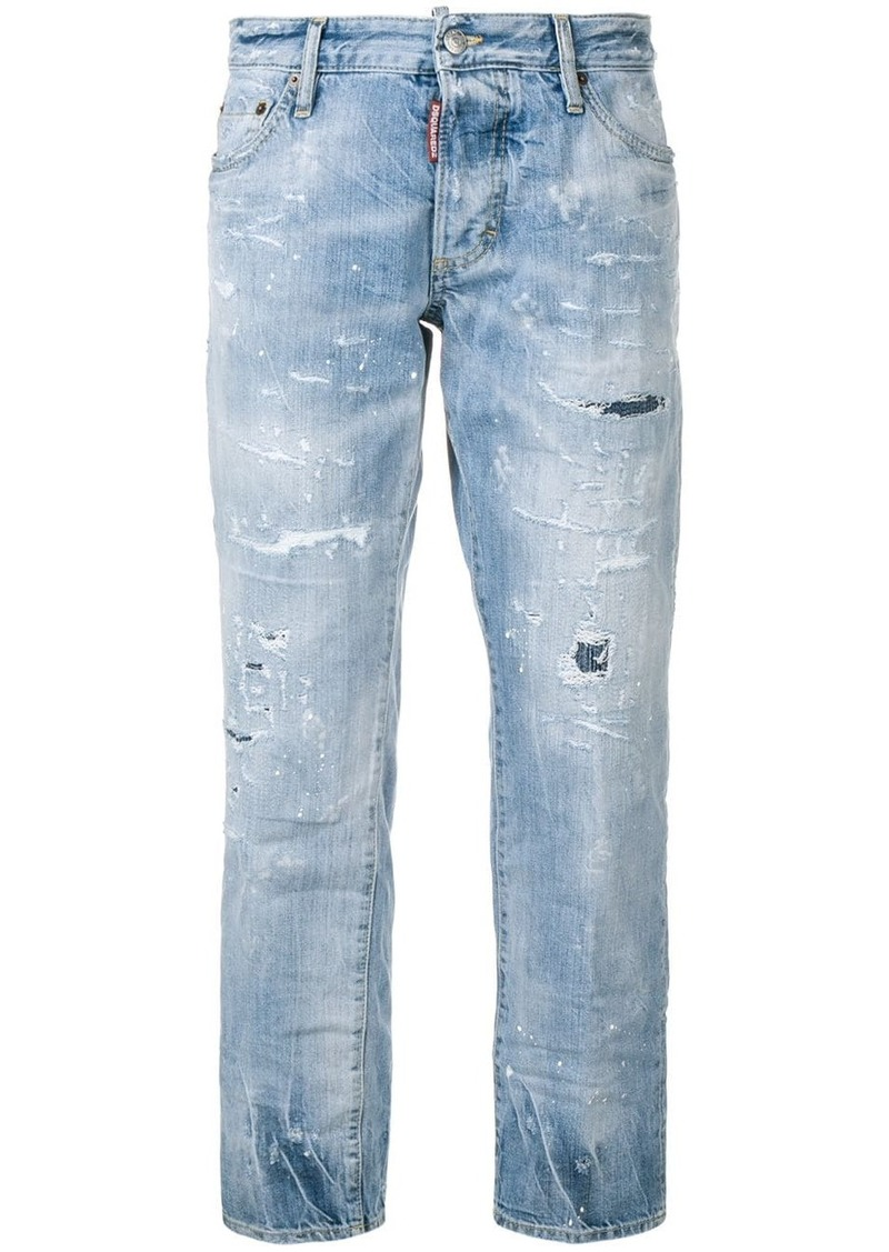 Dsquared2 cropped distressed jeans