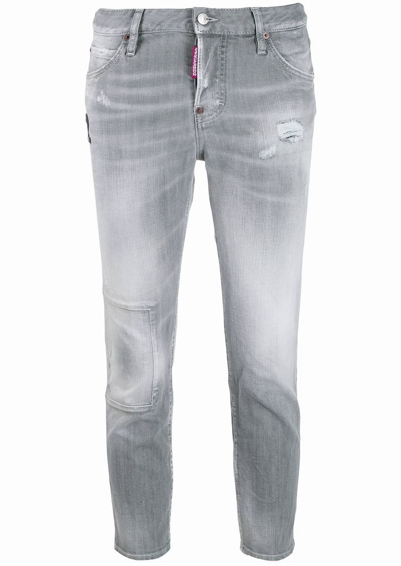 Dsquared2 cropped faded jeans