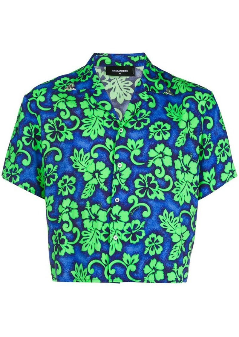 77630781d Dsquared2 cropped Hawaiian print shirt | Casual Shirts