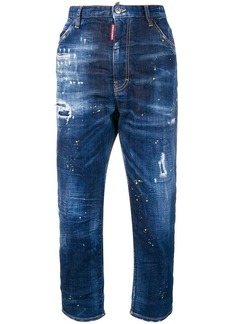 Dsquared2 cropped high waisted jeans