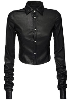 Dsquared2 Cropped Leather Shirt