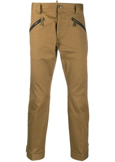 Dsquared2 cropped zip trousers