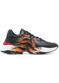 Dsquared2 D42 tiger print sneakers