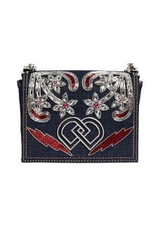 Dsquared2 Dd Jeweled Denim Shoulder Bag