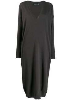 Dsquared2 deep V-neck sweater dress