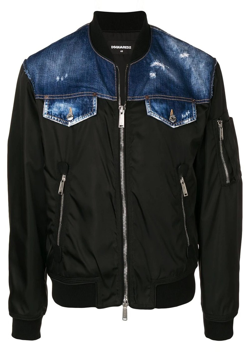 Dsquared2 denim bomber jacket