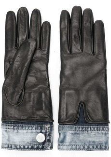 Dsquared2 denim detail gloves